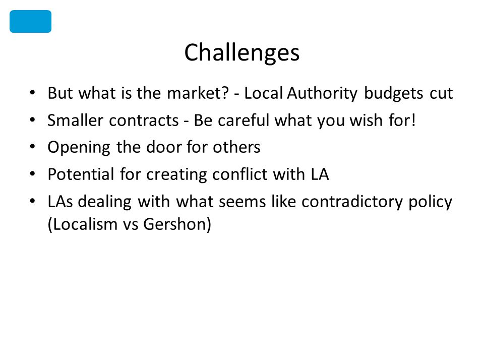 Challenges But what is the market.