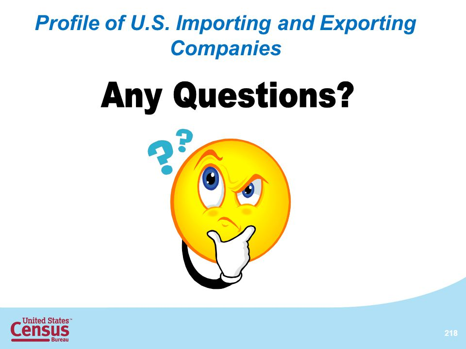 Profile of U.S. Importing and Exporting Companies 218