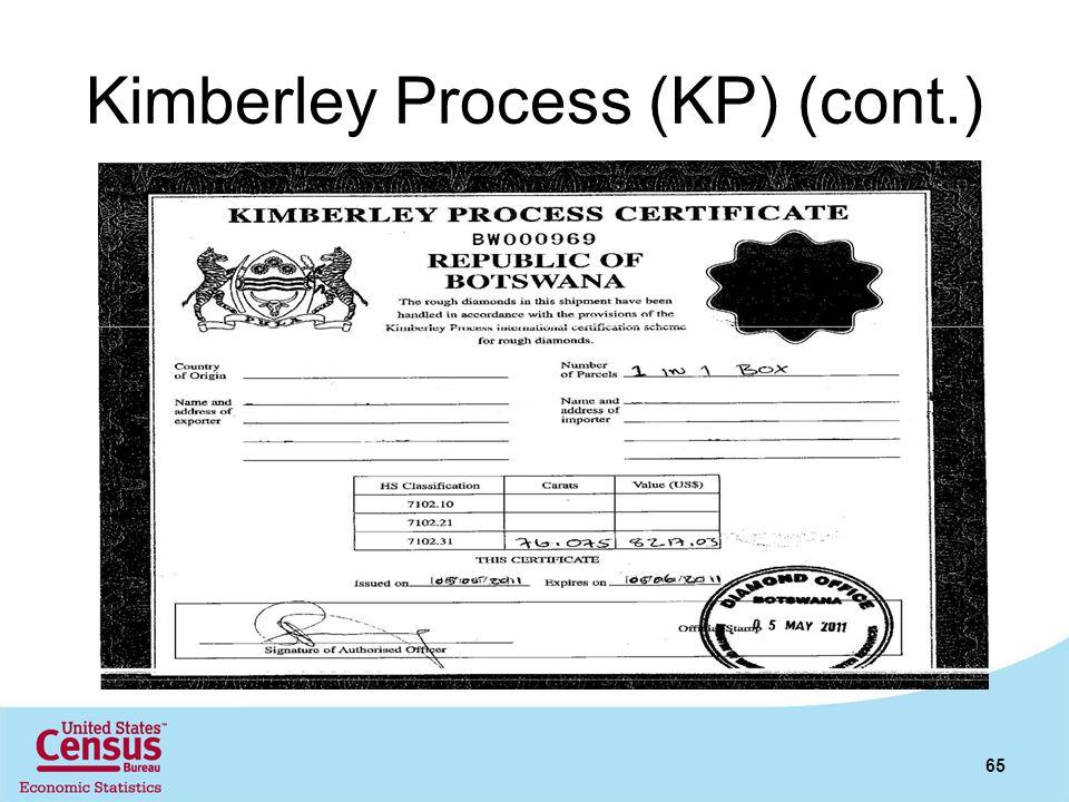 Kimberley Process (KP) (cont.) 65