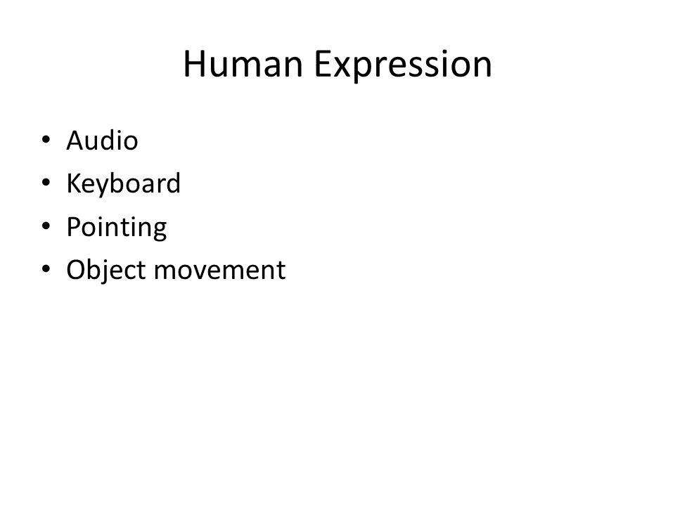 Human Expression Audio Keyboard Pointing Object movement
