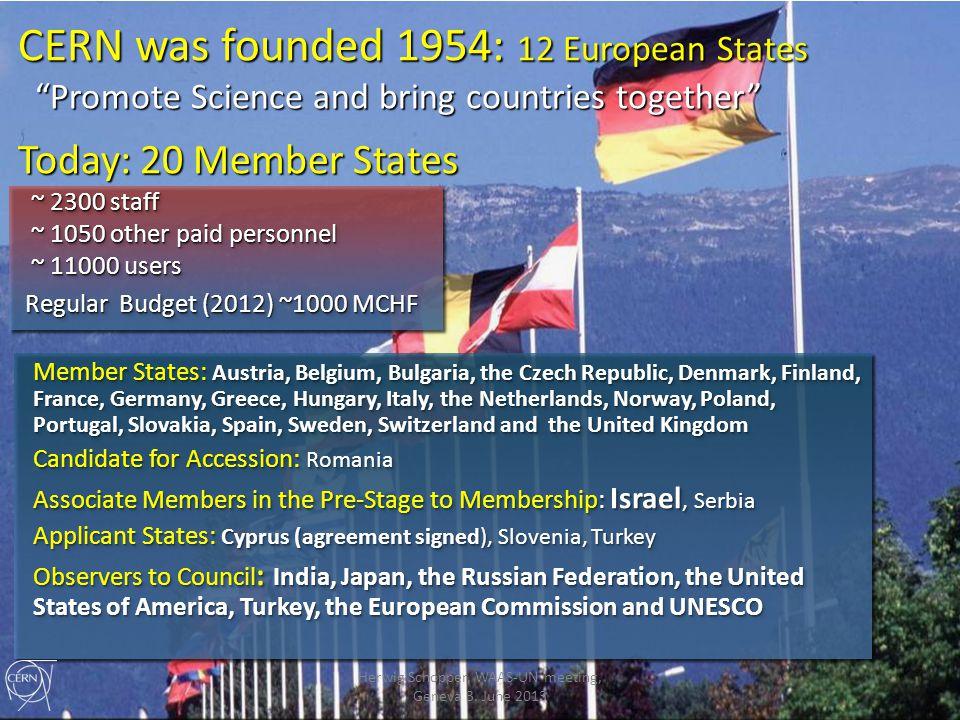 Thank you Herwig Schopper, WAAS-UN meeting, Geneva 3. June 2013