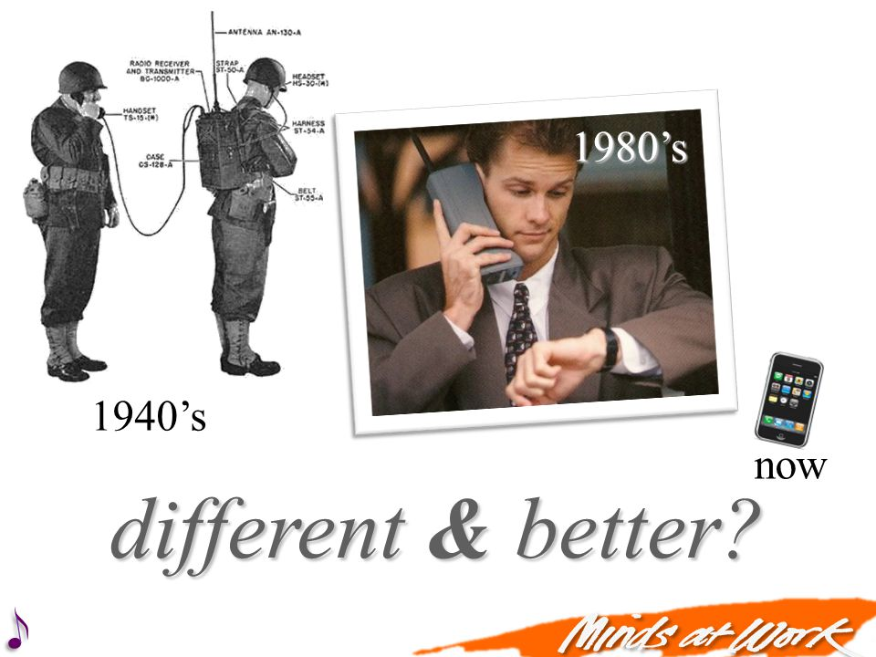 different & better 1940s 1980s now