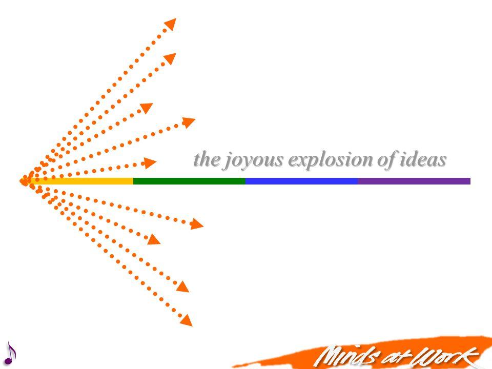 the joyous explosion of ideas