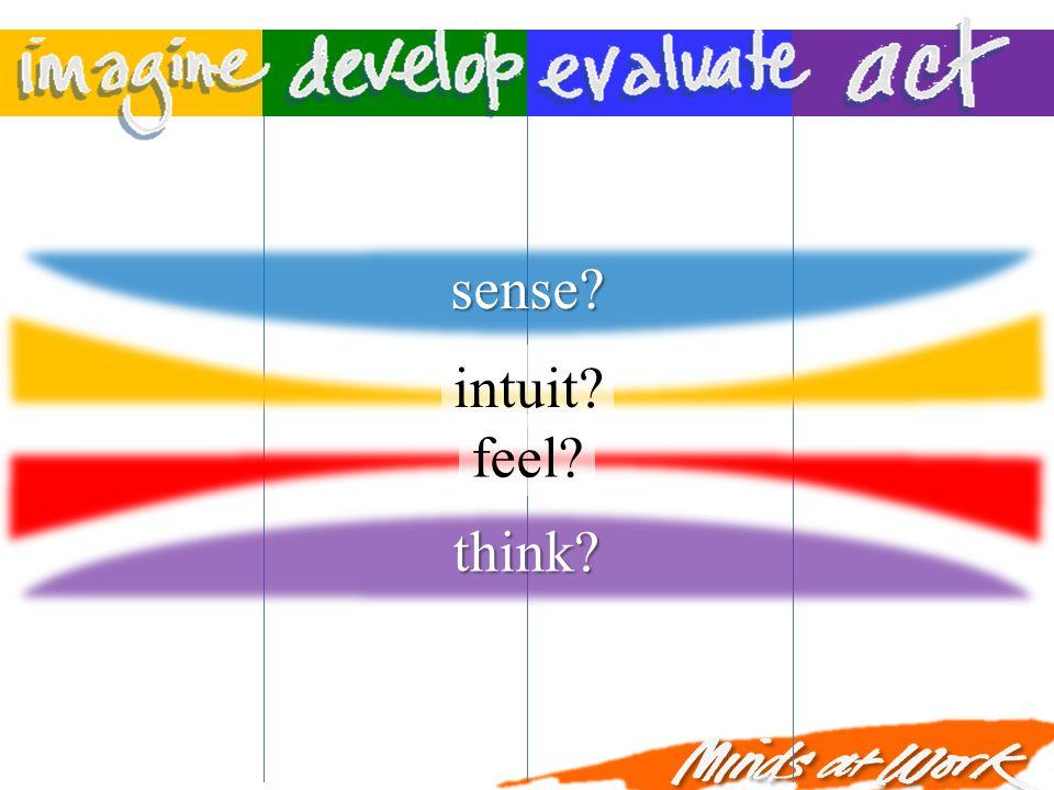intuit? feel? sense? think?