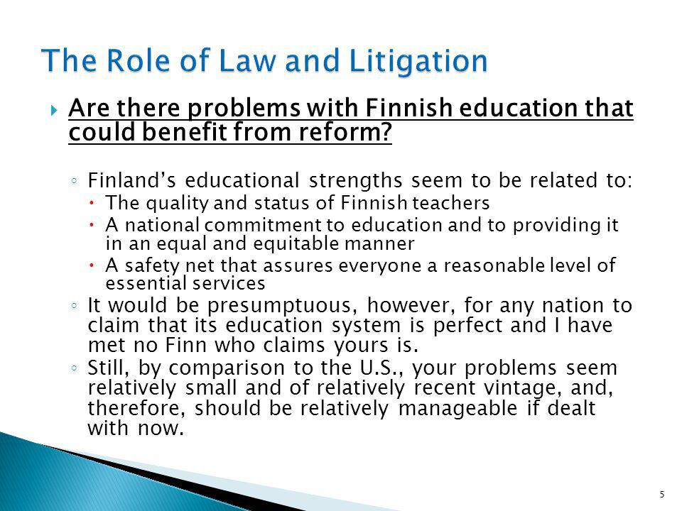 Are there problems with Finnish education that could benefit from reform.