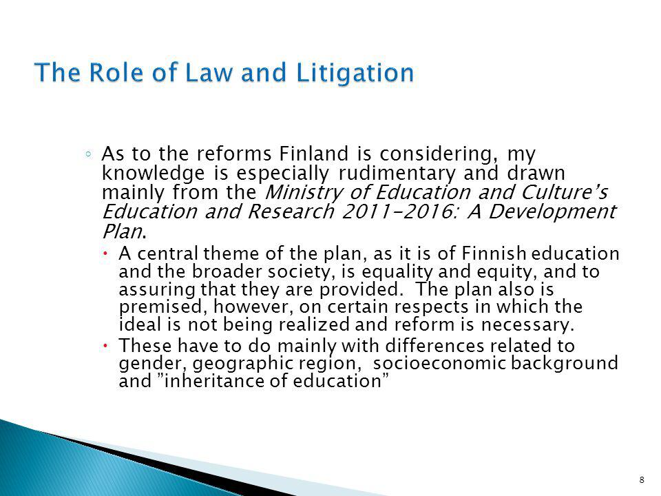 As to the reforms Finland is considering, my knowledge is especially rudimentary and drawn mainly from the Ministry of Education and Cultures Education and Research 2011-2016: A Development Plan.