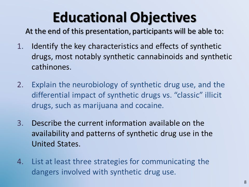 Classic Stimulants Direct action on synapse Amphetamine, cathinone: induce dopamine release Cocaine, methylphenidate (Ritalin): block dopamine removal MDMA: additional effects on serotonin – Dopamine effects less strong, so less reward, so animals do not self-administer as much – Synthetic stimulants are variations on this theme, BUT:Very subtle structural modifications can yield profoundly different behavioural, neurochemical, and neurotoxicological effects.