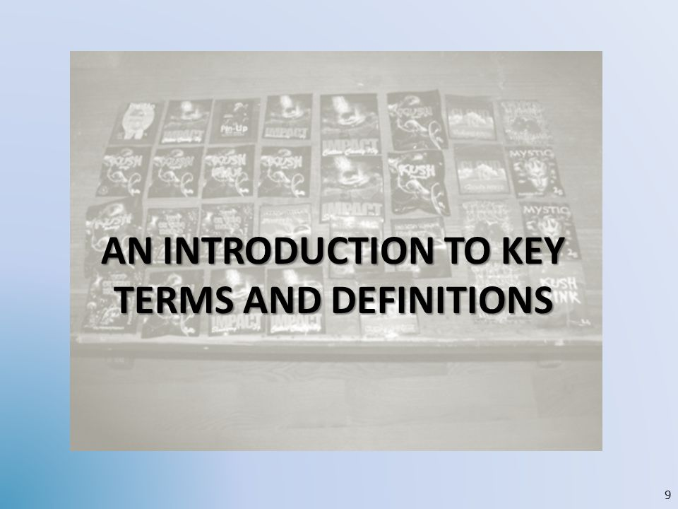 AN INTRODUCTION TO KEY TERMS AND DEFINITIONS 9