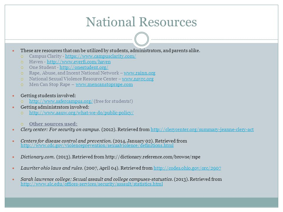 National Resources These are resources that can be utilized by students, administrators, and parents alike. Campus Clarity - https://www.campusclarity
