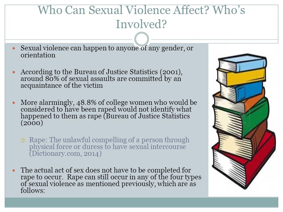 Who Can Sexual Violence Affect.Whos Involved.