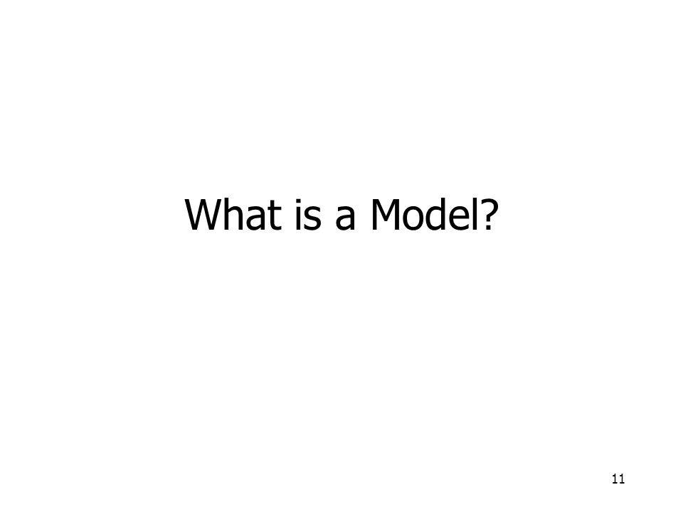 11 What is a Model?