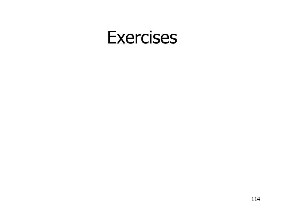 Exercises 114
