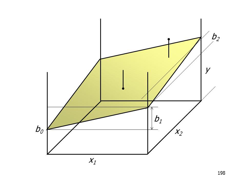 198 x1x1 x2x2 y b0b0 b1b1 b2b2