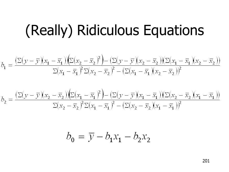 201 (Really) Ridiculous Equations