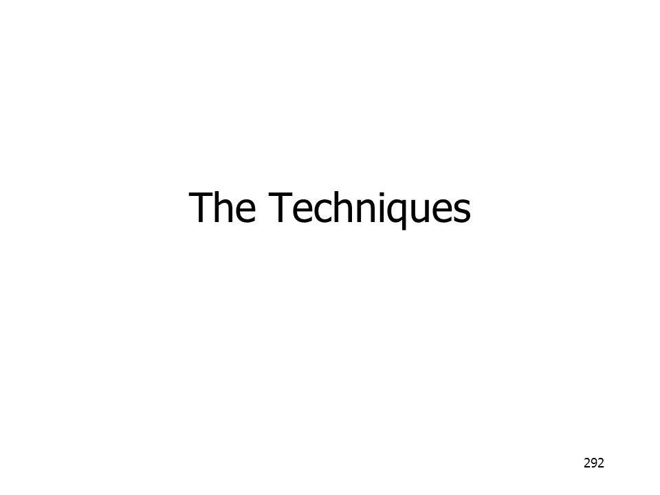 292 The Techniques