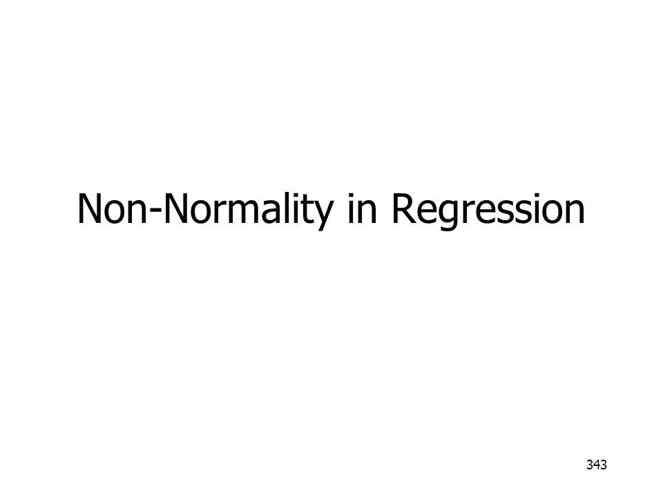 343 Non-Normality in Regression
