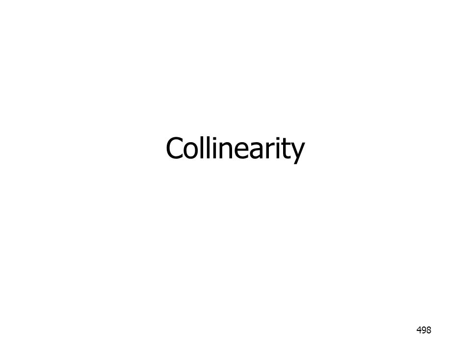 498 Collinearity