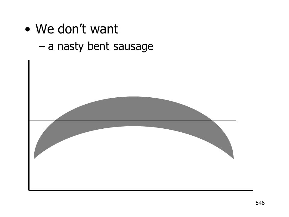 546 We dont want –a nasty bent sausage