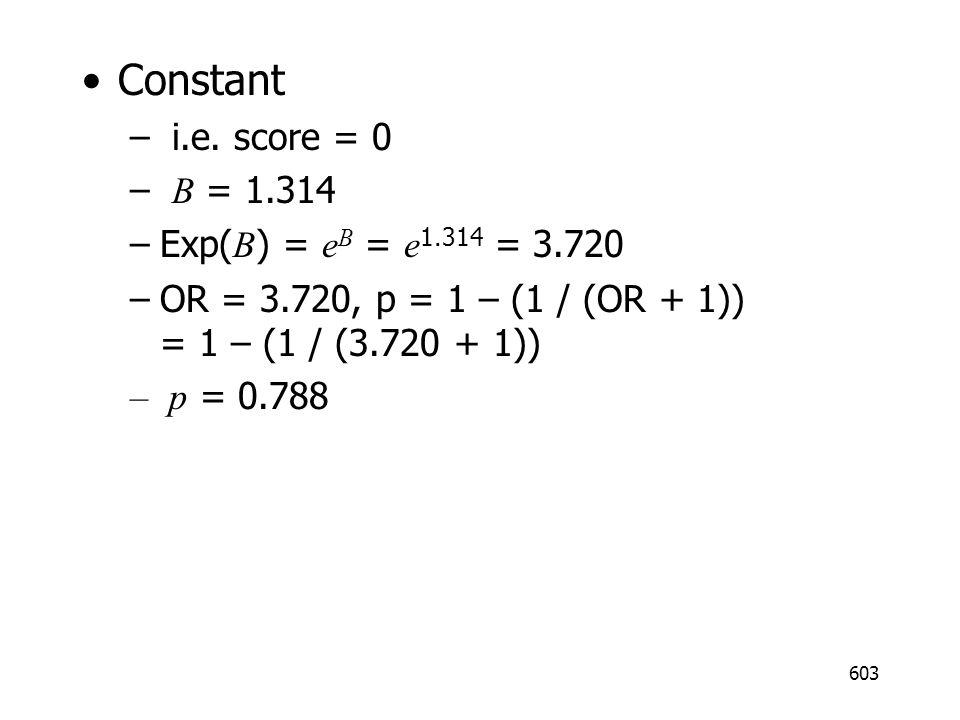 603 Constant – i.e.
