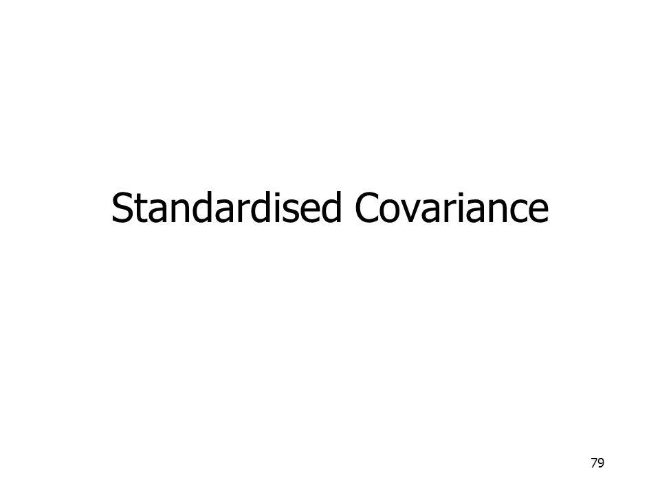 79 Standardised Covariance