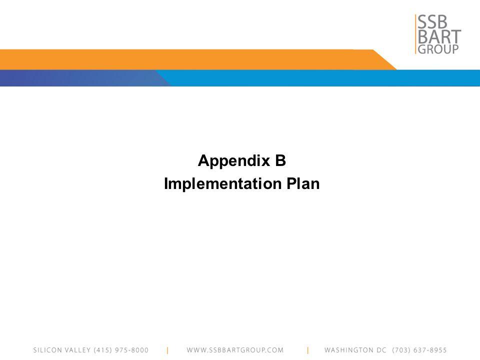 Appendix B Implementation Plan