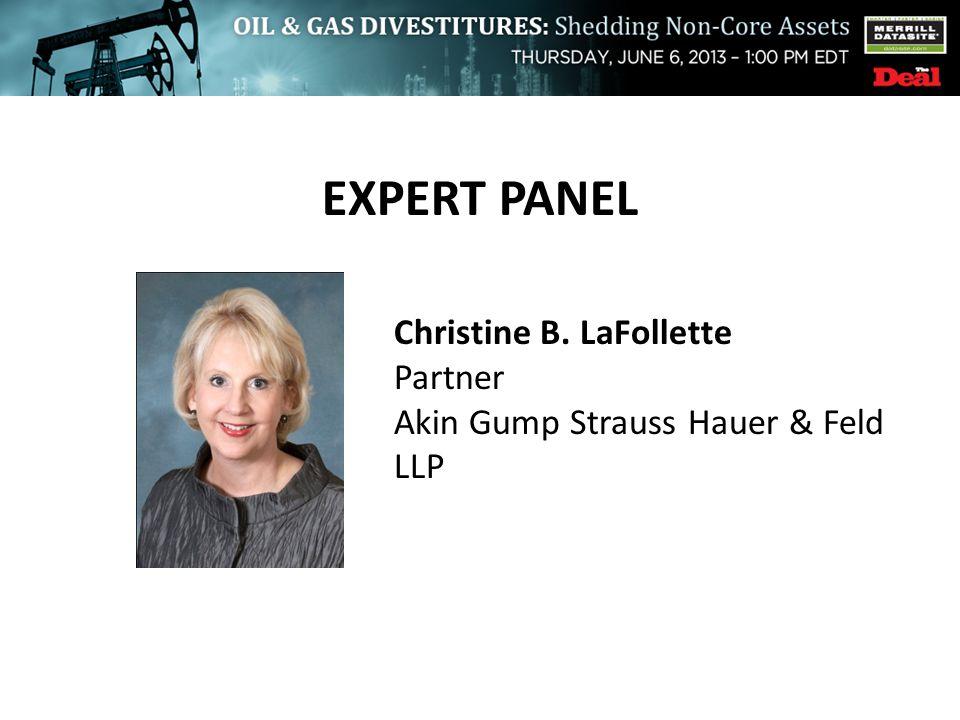 EXPERT PANEL Christine B. LaFollette Partner Akin Gump Strauss Hauer & Feld LLP