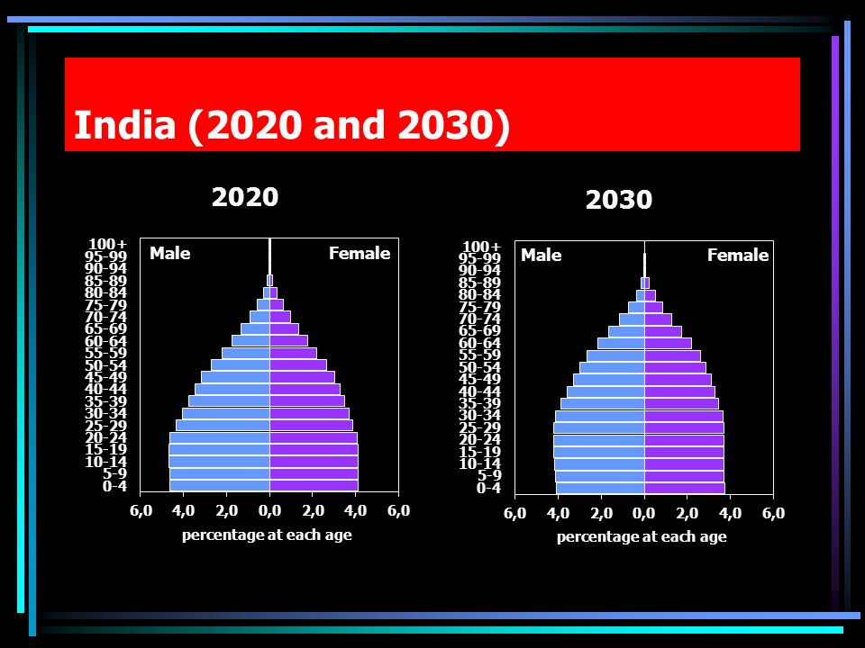 India (2020 and 2030)