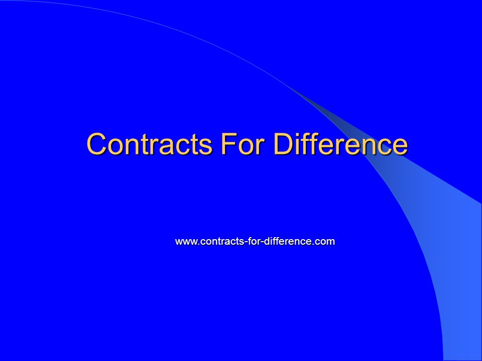Contracts For Difference www.contracts-for-difference.com