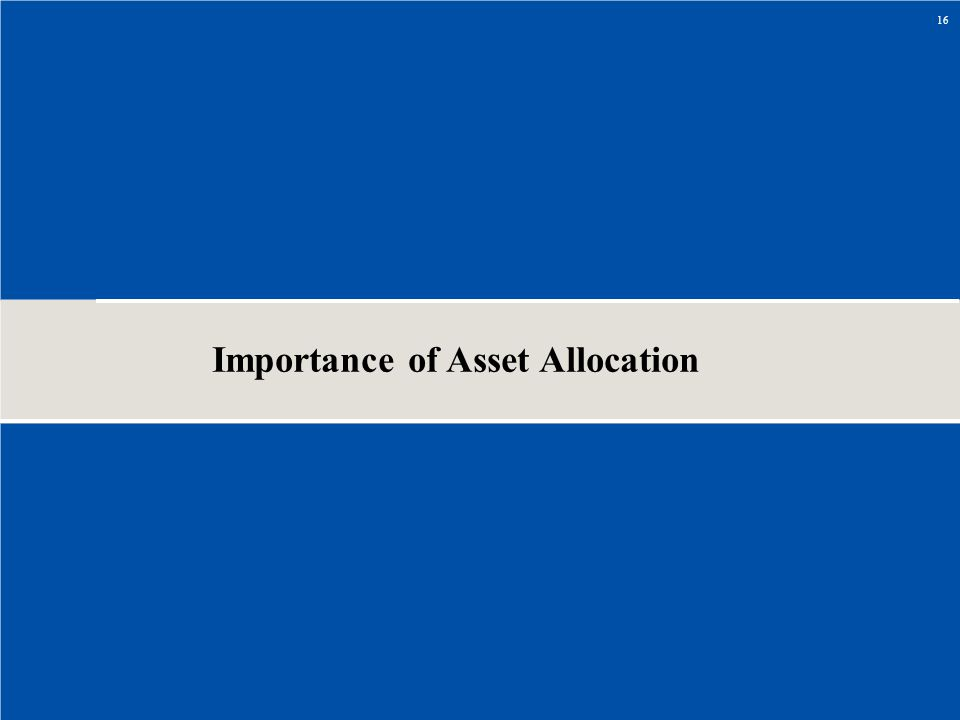 Importance of Asset Allocation 16
