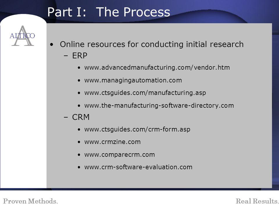 Proven Methods. Real Results. Sample Implementation Methodology