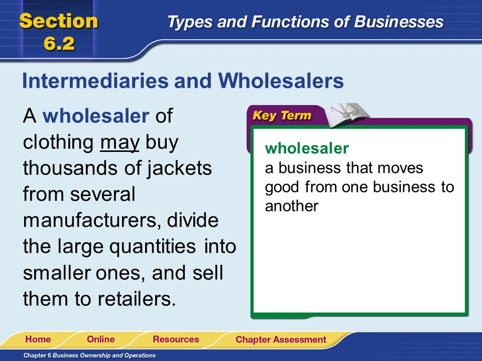 Retailers and Service Businesses retailer a business that purchases goods from a wholesaler and sells them to consumers, the final buyers of the goods A record store is an example of a retailer.