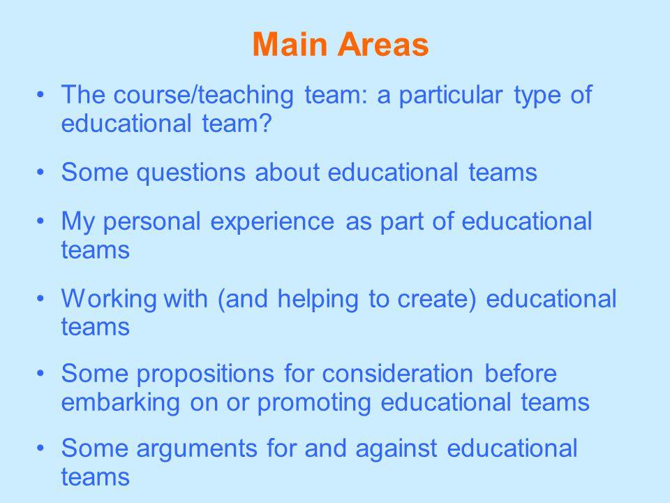 What is a teaching team.