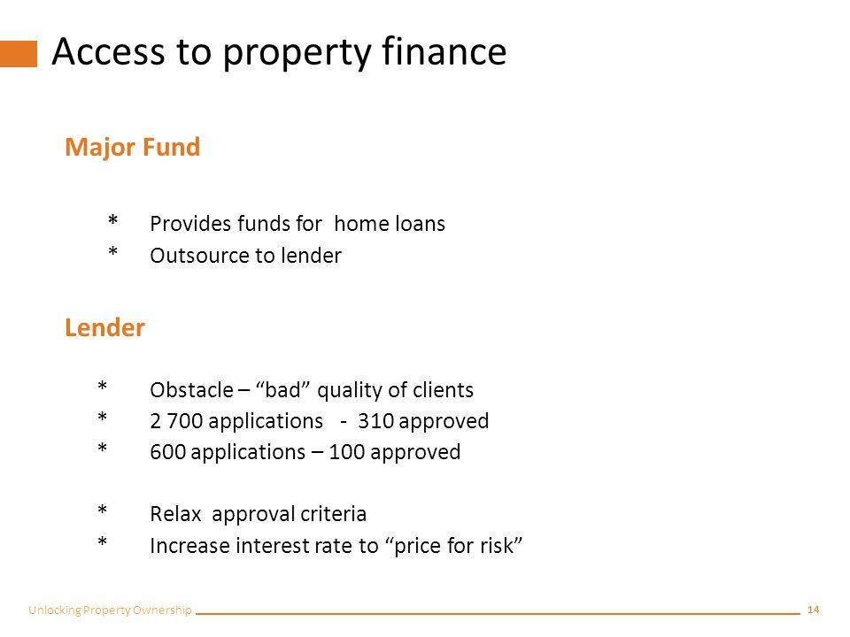 Impact on the property market