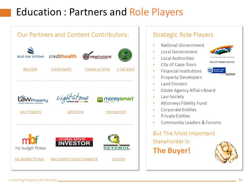 30 Unlocking Property Ownership Fly Solo / Partnerships.