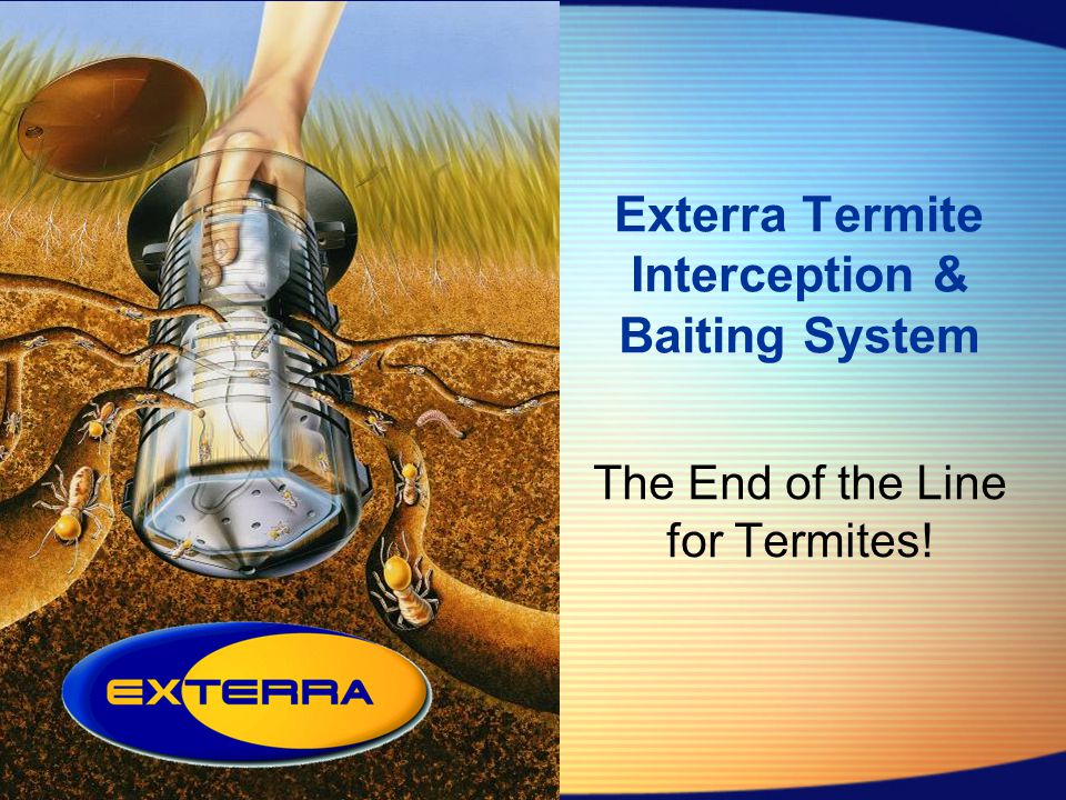 Exterra Termite Interception & Baiting System The End of the Line for Termites!