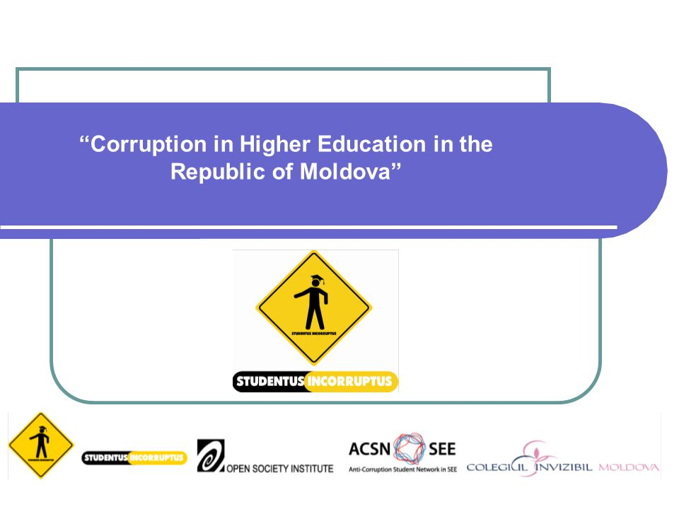 Corruption in Higher Education in the Republic of Moldova