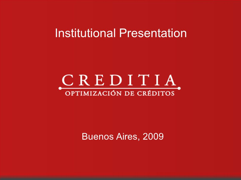 Institutional Presentation Buenos Aires, 2009