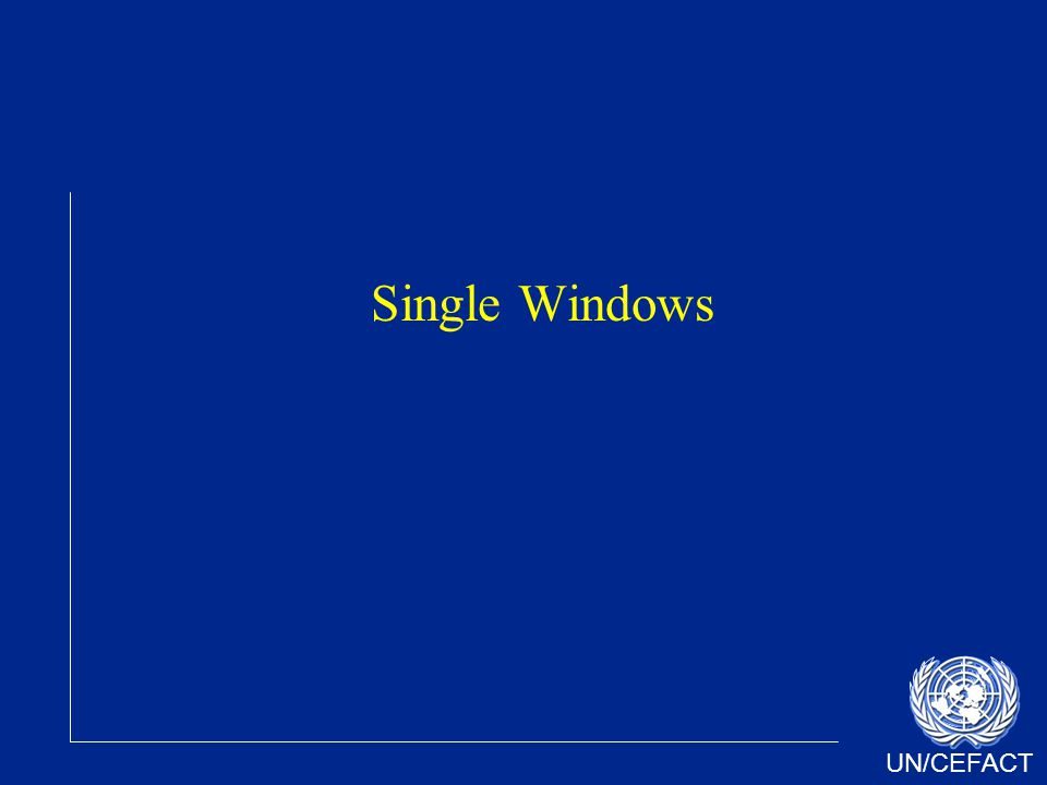 UN/CEFACT Single Windows
