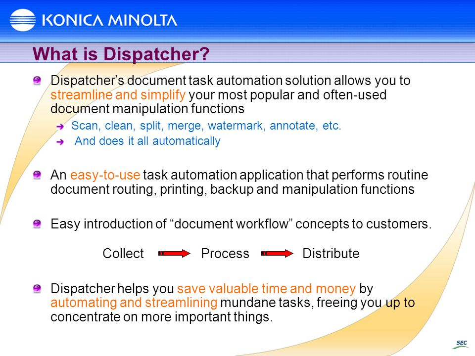 What is Dispatcher.