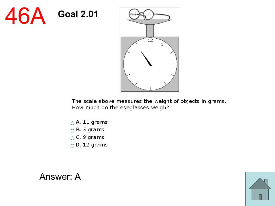 46A Goal 2.01 Answer: A