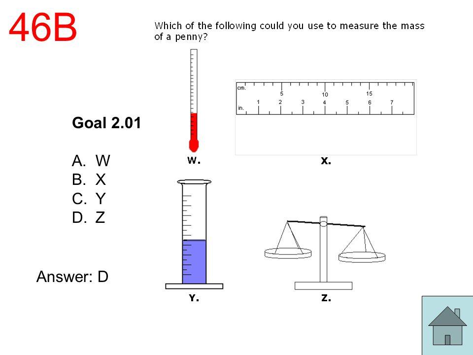 46B Goal 2.01 A.W B.X C.Y D.Z Answer: D