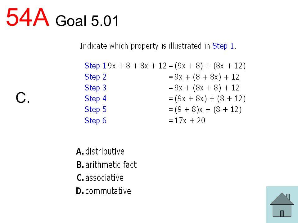 54A Goal 5.01 C.
