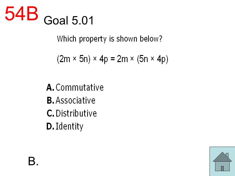 54B Goal 5.01 B.
