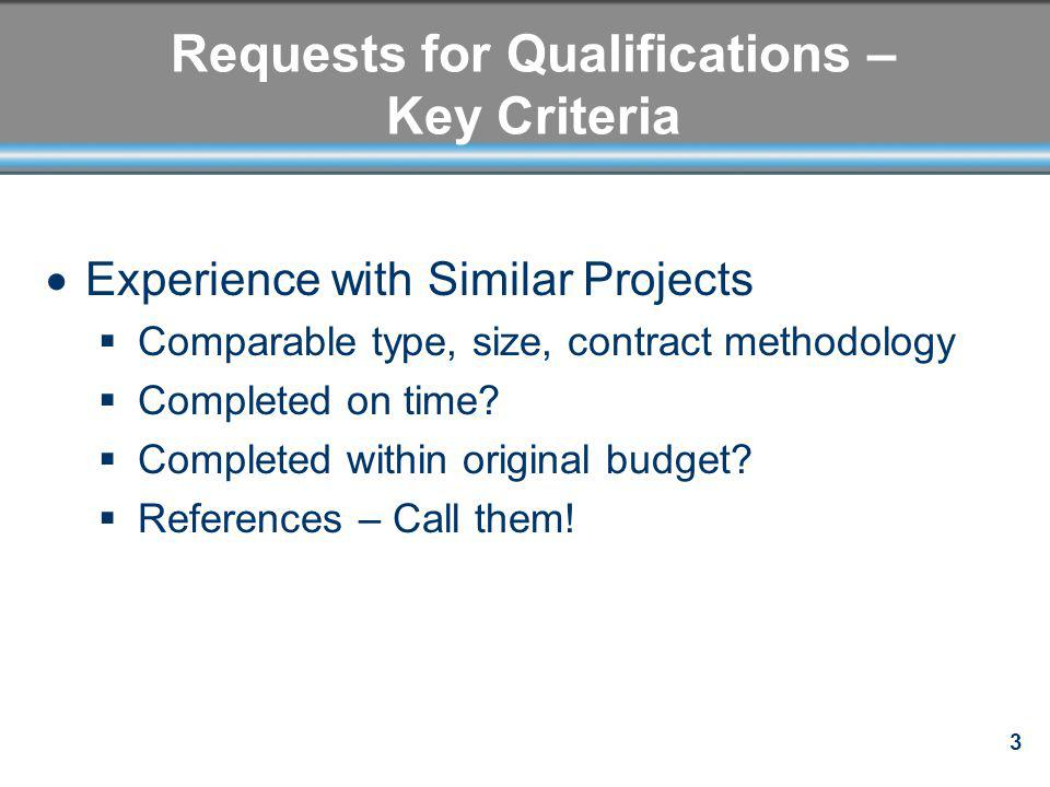 14 Negotiation Options Select on best value, – schedule, technical - not just lowest cost BAFOs Maintaining confidentiality of proposals is critical Rank proposers Incorporation of ideas proffered by unsuccessful bidders get rights in stipend agreement Scope/contract clarifications and refinements Reserve right to reject proposal and negotiate with next highest-ranked proposer