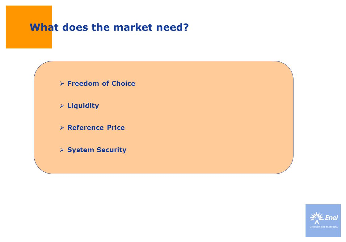 What does the market need Freedom of Choice Liquidity Reference Price System Security