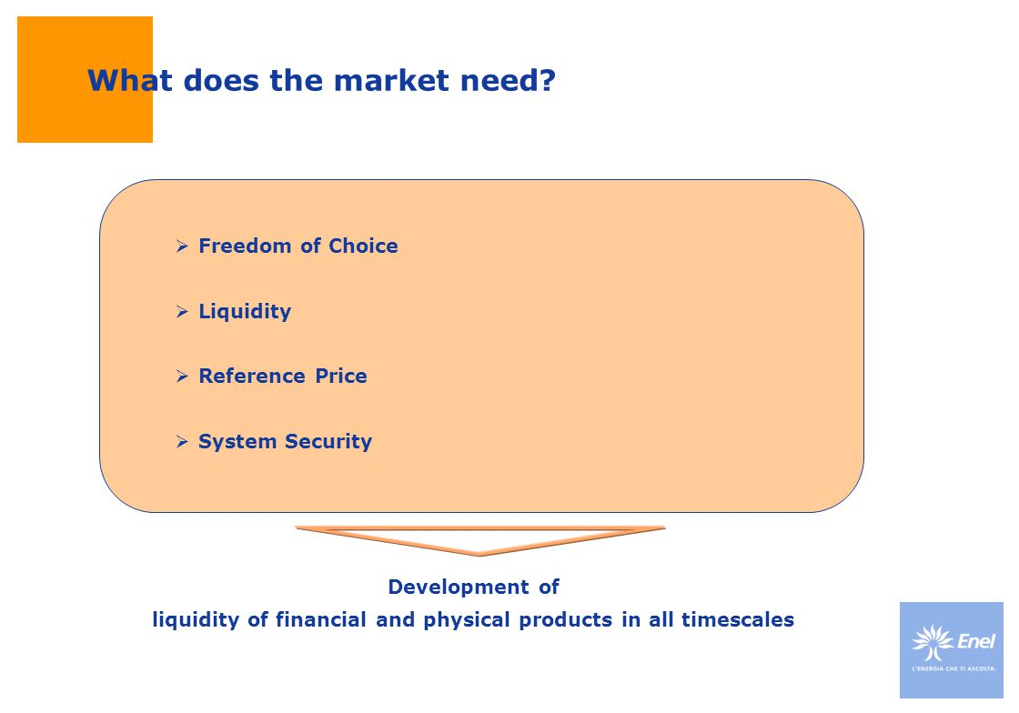 What does the market need.
