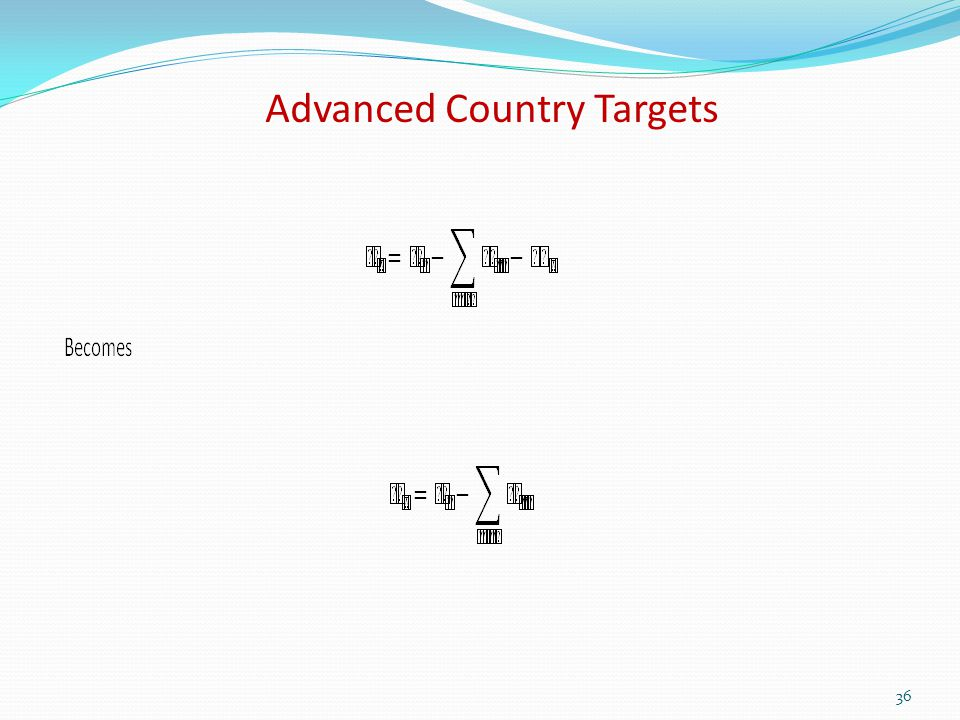 Advanced Country Targets 36