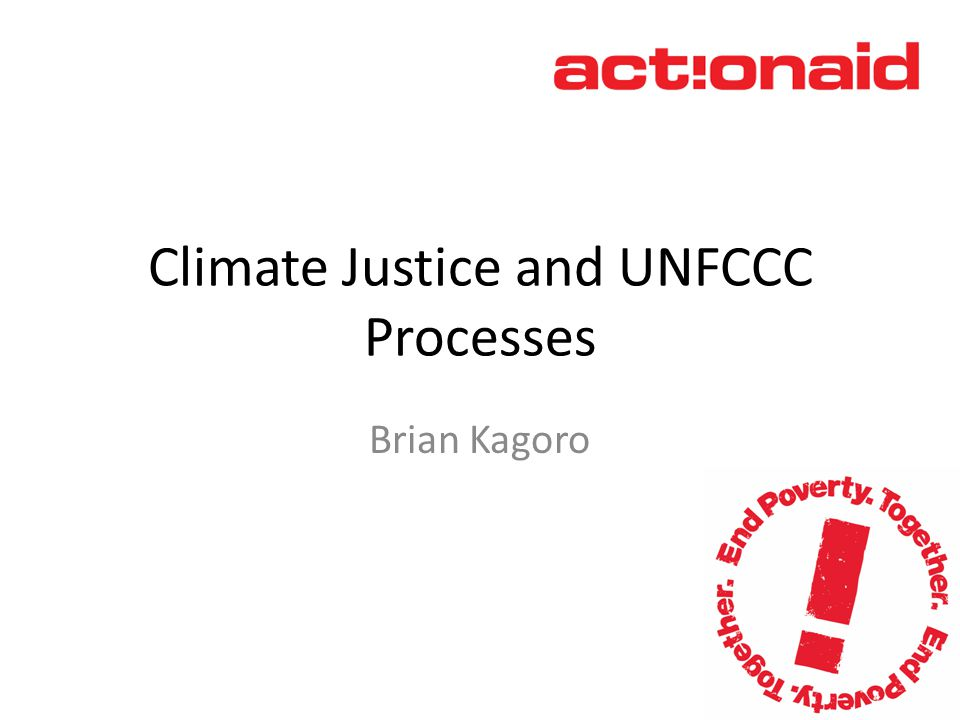 Why Climate Justice.