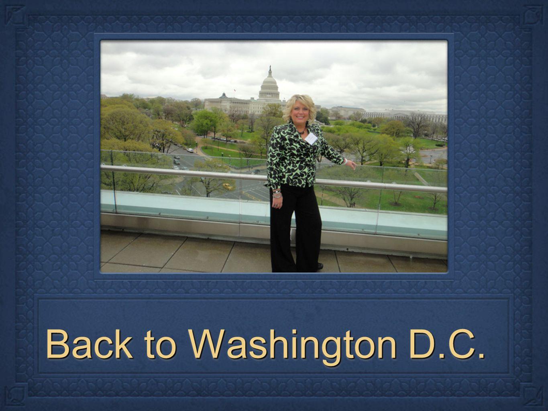 Back to Washington D.C.