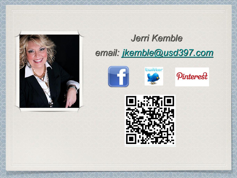 Jerri Kemble email: jkemble@usd397.com jkemble@usd397.com Jerri Kemble